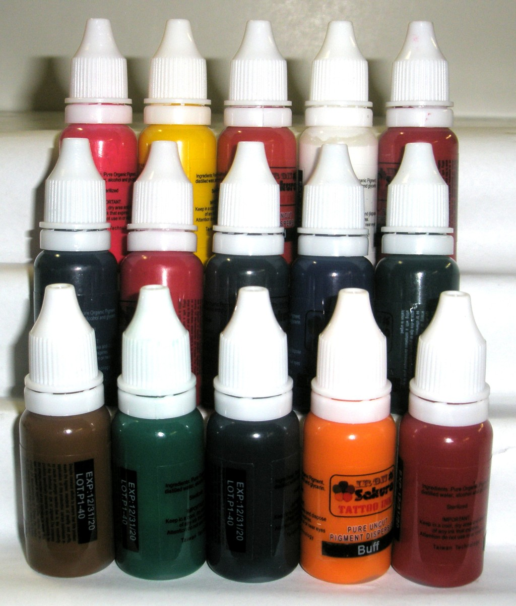 HIGH QUALITY TATTOO INK PIGMENT 15 Colors 15ml 1/2oz