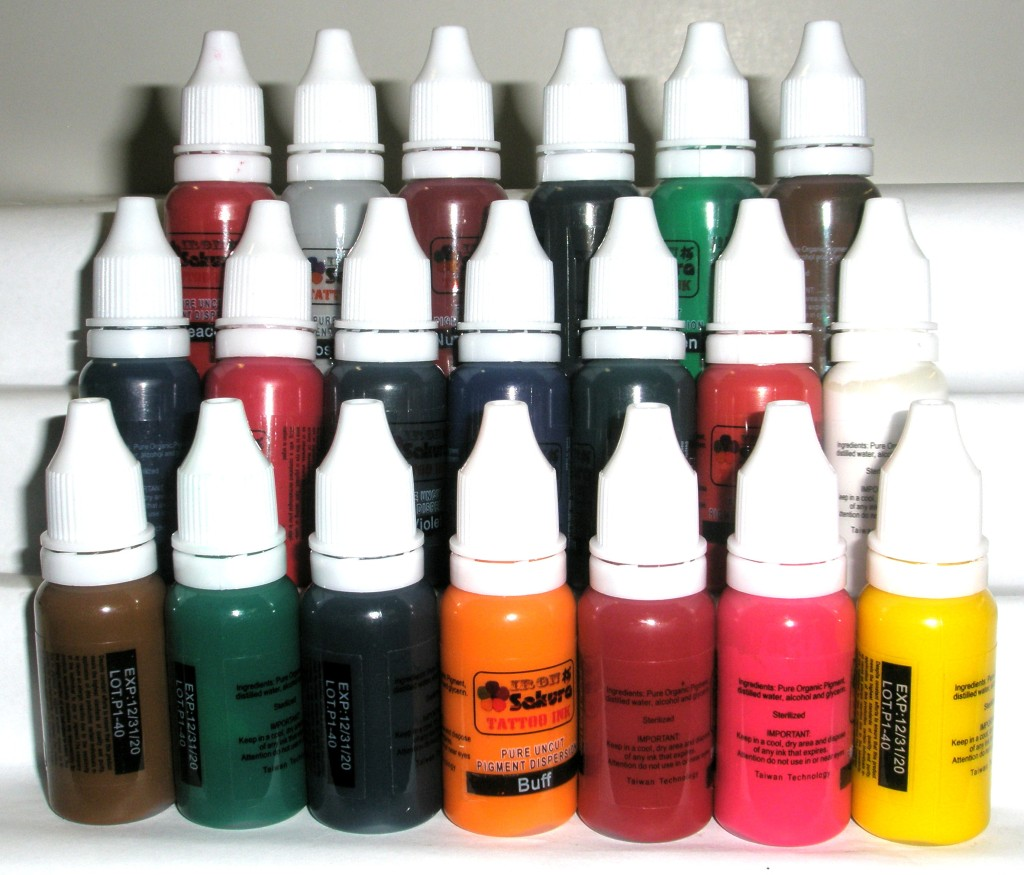 HIGH QUALITY TATTOO INK PIGMENT 20 Colors 15ml 1/2oz