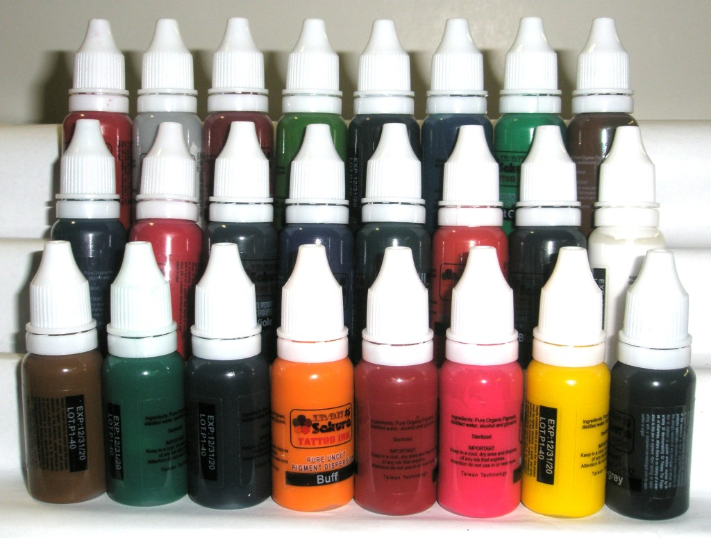 HIGH QUALITY TATTOO INK PIGMENT 24 Colors 15ml 1/2oz