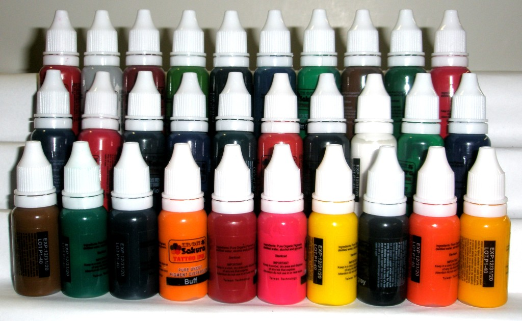HIGH QUALITY TATTOO INK PIGMENT 30 Colors 15ml 1/2oz