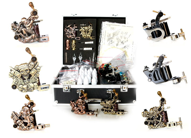 Ultimate Tattoo Kit, 6 Guns, 40 Inks, Power Supply, Needles..K07