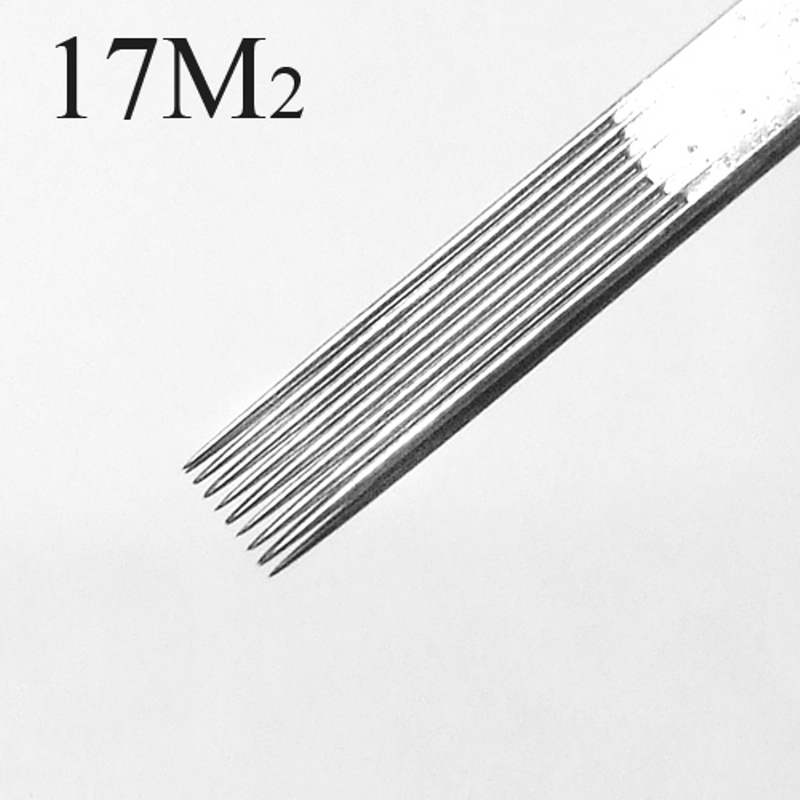 50 Pcs Tattoo Needles Double Stack Magnum 17M2