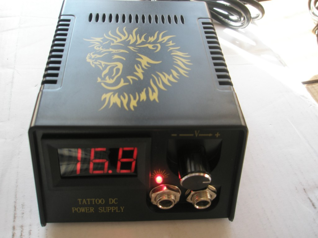 Digital LCD Tattoo Power Supply + Clip Cord Foot Switch